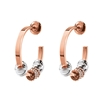 Love Memo Rose Gold Plated Small Hoop Earrings