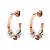 Love Memo Rose Gold Plated Small Hoop Earrings