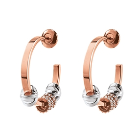 Love Memo Rose Gold Plated Small Hoop Earrings-