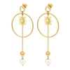 Wishing On Silver 925 18k Yellow Gold Plated Μακριά Σκουλαρίκια