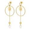 Wishing On Silver 925 18k Yellow Gold Plated Long Earrings