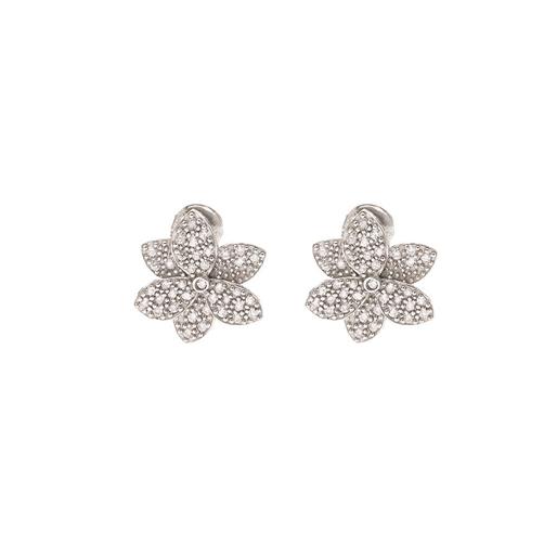 Blooming Grace Silver 925 Long Earrings-