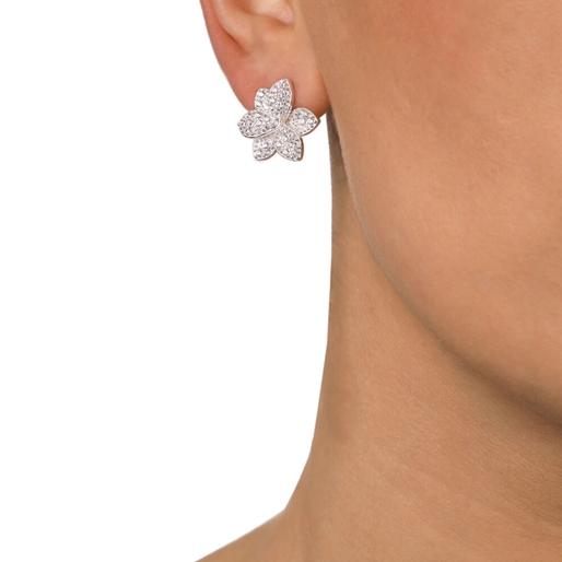 Blooming Grace Silver 925 Μακριά Σκουλαρίκια-