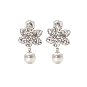 Blooming Grace Silver 925 Short Earrings-