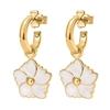 Bloom Bliss Yellow Gold Plated Hoop Earrings