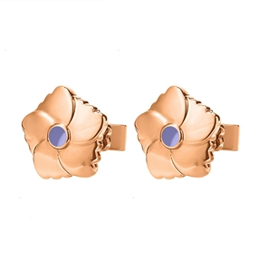 Bloom Bliss Rose Gold Plated Stud Earrings-