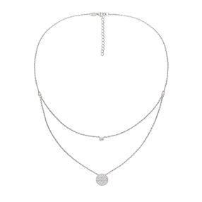 Fashionably Silver Essentials Rhodium Plated Short Necklace-