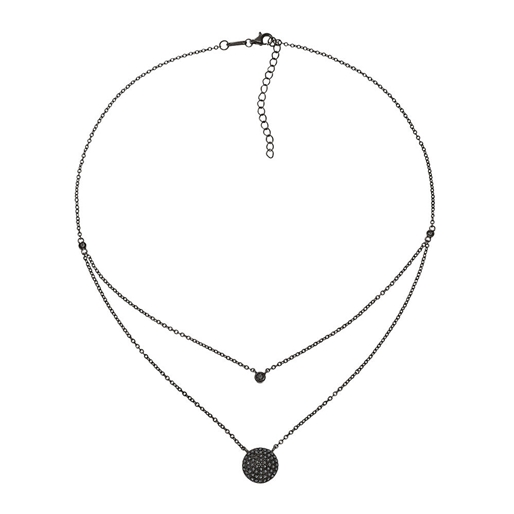 Fashionably Silver Essentials Black Rhodium Plated Short Necklace-