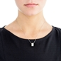 Fashionably Silver Essentials Rhodium Plated Κοντό Κολιέ-