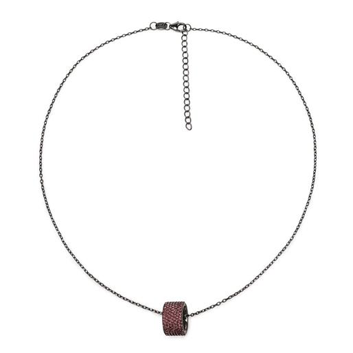Fashionably Silver Essentials Black Plated Κοντό Κολιέ-