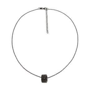 Fashionably Silver Essentials Black Rhodium Plated Short Necklace-