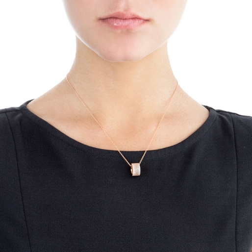 Fashionably Silver Essentials Rose Gold Plated Short Necklace-