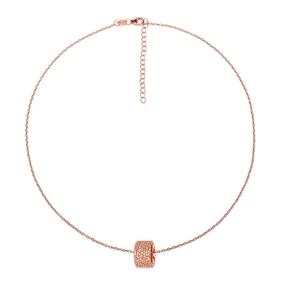 Fashionably Silver Essentials Short Necklace-