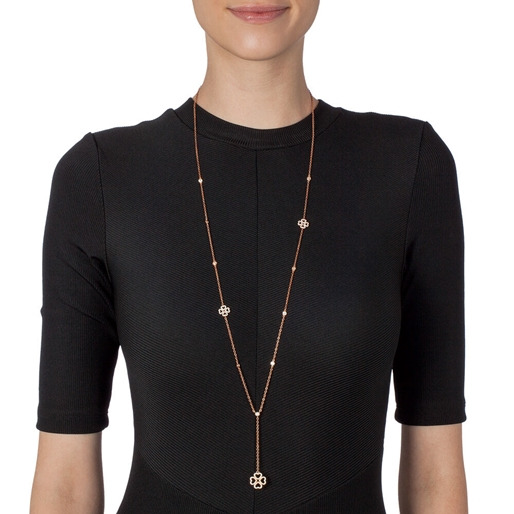 Miss Heart4Heart Rose Gold Plated Long Necklace-
