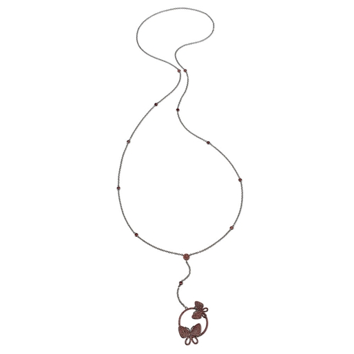 Wonderfly Black Flash Plated Long Necklace-