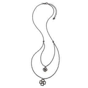 Miss Heart4Heart Black Flash Plated Short Necklace-