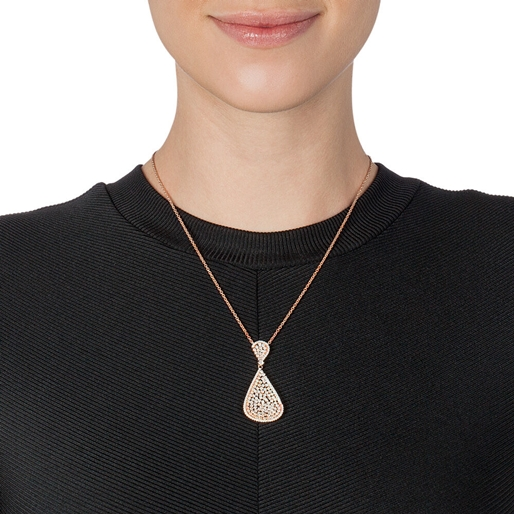 Sparkle Chic Rose Gold Plated Κοντό Κολιέ-