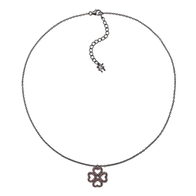 Miss Heart4Heart Black Plated Short Necklace-