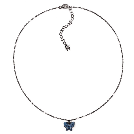 Wonderfly Silver 925 Black Flash Plated Short Necklace -