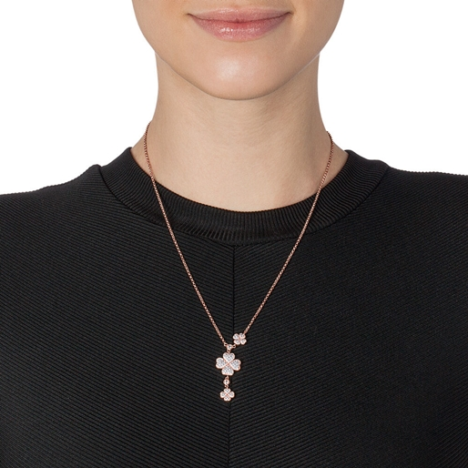 Heart4Heart Rose Gold Plated Short Necklace-