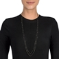 The Essentials Black Flash Plated Long Necklace -