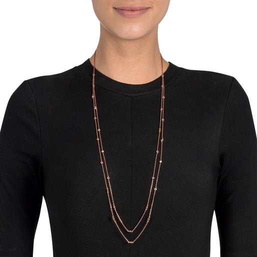The Essentials Rose Gold Plated Long Necklace-