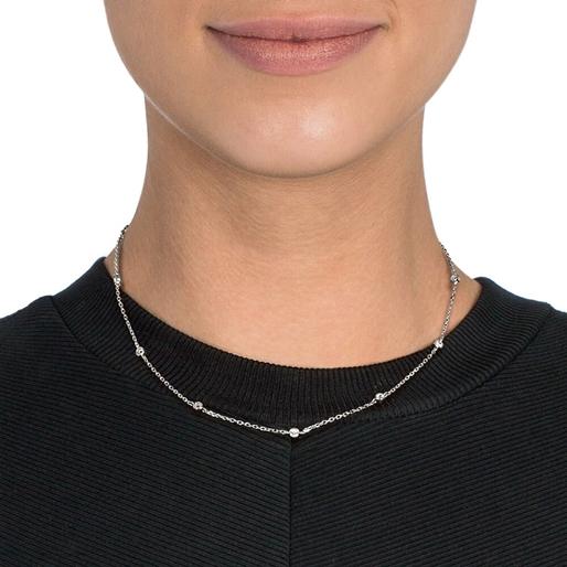 The Essentials Rhodium Plated Short Necklace -