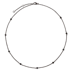The Essentials Black Flash Plated Short Necklace-