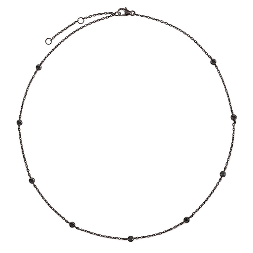 The Essentials Black Flash Plated Short Necklace -
