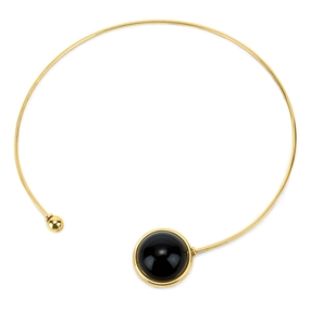 Style Stories Yellow Gold Plated Choker Κολιέ-
