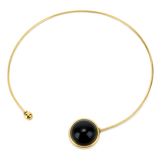 Style Stories Yellow Gold Plated Choker Necklace-