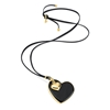 Style Stories Black Leather Cord Long Necklace