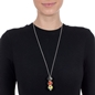 Playful Emotions Silver Plated Long Chain Necklace-