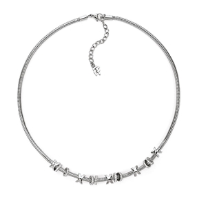 Love Memo Silver Plated Short Necklace-