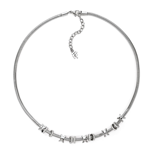 Love Memo Silver Plated Short Necklace -