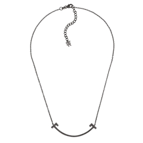 My FF Silver 925 Black Flash Plated Short Necklace-