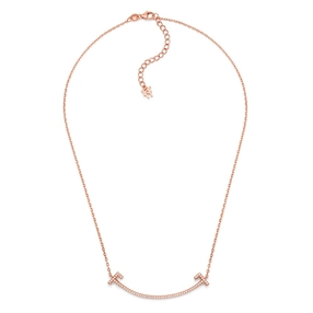 My FF Silver 925 Rose Gold Flash Plated Short Necklace-
