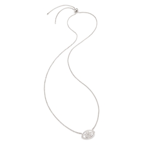 Heart4Heart Mati Silver 925 Ajustable Necklace-