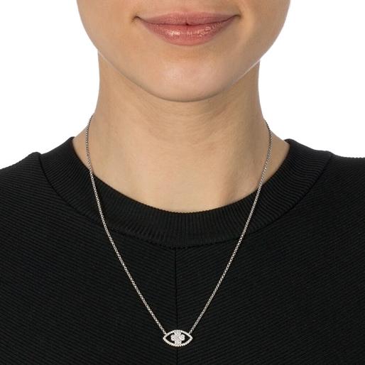 Heart4Heart Mati Silver 925 Ajustable Necklace -