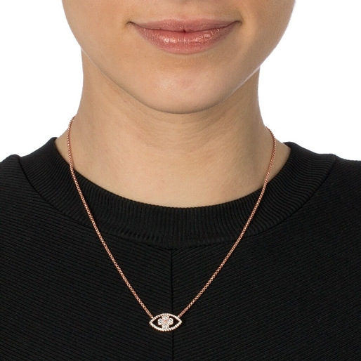 Heart4Heart Mati Rose Gold Plated Adjustable Necklace -