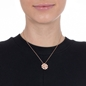 FF Bouquet Silver 925 Rose Gold Plated Short Necklace-