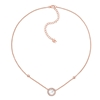 Heart4Heart Mirrors Silver 925 Rose Gold Plated Short Necklace