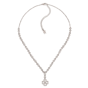 Miss Heart4Heart Silver 925 Rhodium Plated Short Necklace-