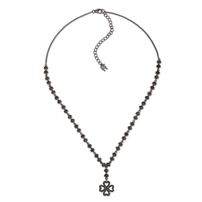 Miss Heart4Heart Silver 925 Black Plated Short Necklace-