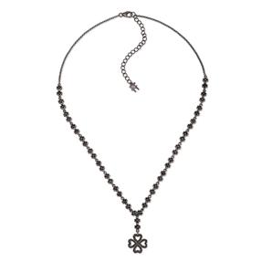 Miss Heart4Heart Silver 925 Black Plated Κοντό Κολιέ-