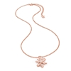 Star Flower Flash Silver 925 Rose Gold Plated Μεσαίο Μοτίφ Κοντό Κολιέ