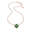 Heart4Heart Chroma Silver 925 Rose Gold Flash Plated Short Necklace
