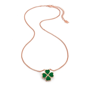 Heart4Heart Chroma Silver 925 Rose Gold Flash Plated Short Necklace-