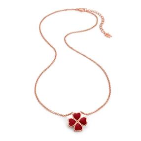 Heart4Heart Chroma Silver 925 Rose Gold Flash Plated Κοντό Κολιέ-