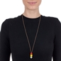 Playful Emotions Rose Gold Plated Long Chain Necklace-